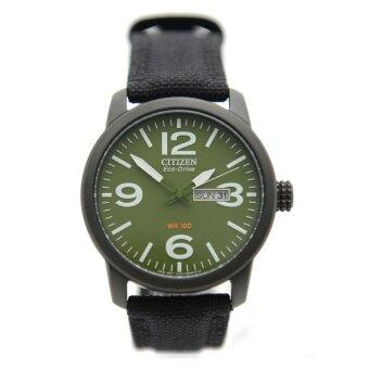 Citizen BM8475-00X Eco-Drive Military Green Dial Canvas Solar Watch BM8475-00