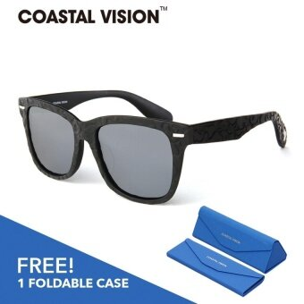 COASTAL VISION Polarized Unisex Black sunglasses Rectangle anti UVA/B lenses CVS5817