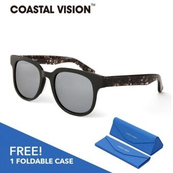 COASTAL VISION Polarized Unisex Black sunglasses Square anti UVA/B lenses CVS5820