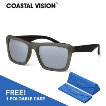 COASTAL VISION Polarized Unisex Silver sunglasses Rectangle anti UVA/B lenses CVS5823