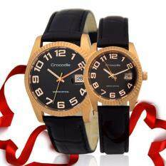 Crocodile Wedding Perkahwinan Valentine Watch Handaran Present Gift Set Model Cr447 Rose Gold