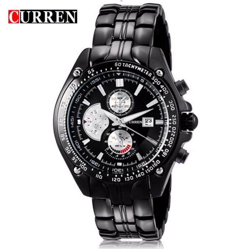 Curren 8083 Mens Black Stainless Steel Strap Watch (Black) Malaysia