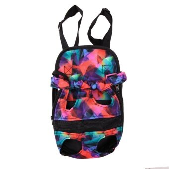 buy online fae2f d65dc Dog Carrier Travel Dog Backpack Breathable Pet Bags Shoulder  PetCarrier(Multicolor)-L