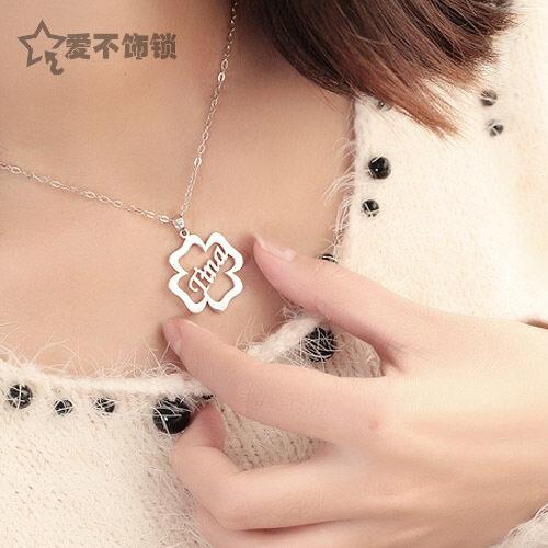 Mengukir Nama Huruf Alfabet Kalung untuk Membuat untuk Order Nama Lain untuk Pronounce Kepribadian Dekorasi untuk Mourn untuk Fall untuk DIY Cina Anak Laki-laki untuk Mourn untuk Fall untuk-Internasional