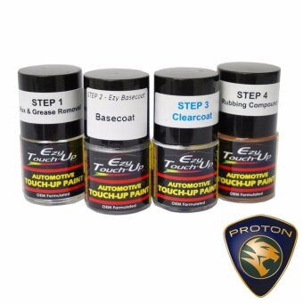 Ezy Touch Up Paint For PROTON (Graphite Grey/Silver Moon Dust-A0206 / A0209) Combo Set