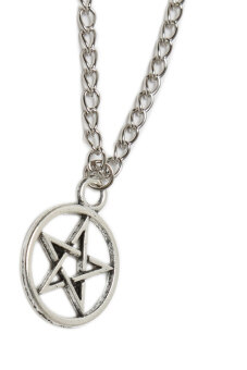 Fancyqube Pentagram Necklace Long Sweater Chain Fine Jewelry Silver