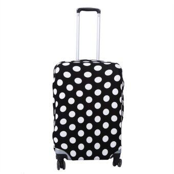 Fashion Elastic Dust-proof Travel Suitcase Protective Cover LuggageProtector Cases (Black White Dots L26-28)