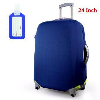 Fashion Travel Suitcase Protective Cover Luggage Protector Cases Elastic Dust-proof 24 Inch (Pure Black,Purple and Blue)