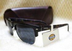 fossil sunglasses y2sj  Fossil Clubmaster Unisex Black Sunglasses