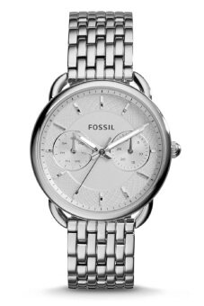 Fossil Women's ES3712 Tailor Multifunction Silver Stainless Steel Watch (Silver)