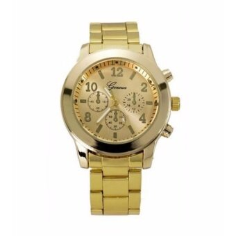 Geneva Unisex Stainless Steel Casual Business Fashion Watch 632643 Gold
