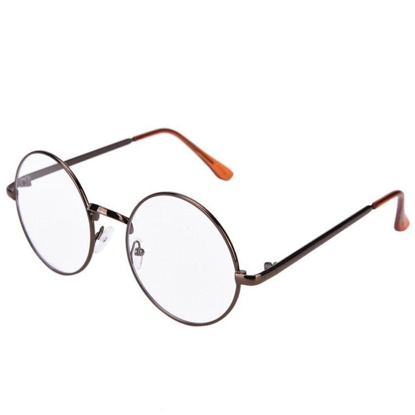 Kacamata Bening Lensa Kacamata Unisex Retro Kacamata Kacamata Frame Kacamata Perunggu-Internasional