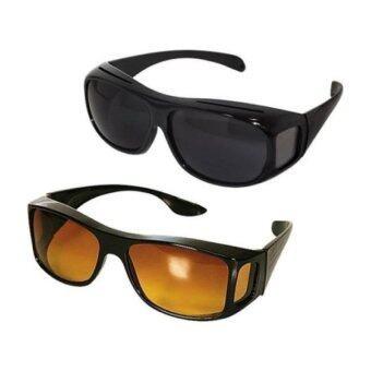 sunglasses wrap  HD Vision Driving Anti Glare Wrap Around Sunglasses 1 Set 2 Pcs ...