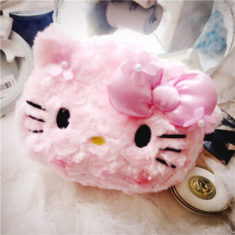 Hello Kitty cute cherry cosmetic bag
