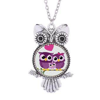 Hequ New Brand Charms Owl Necklaces Pendants Vintage Crystal Treeof Life Long Chain Necklace Women Jewelry