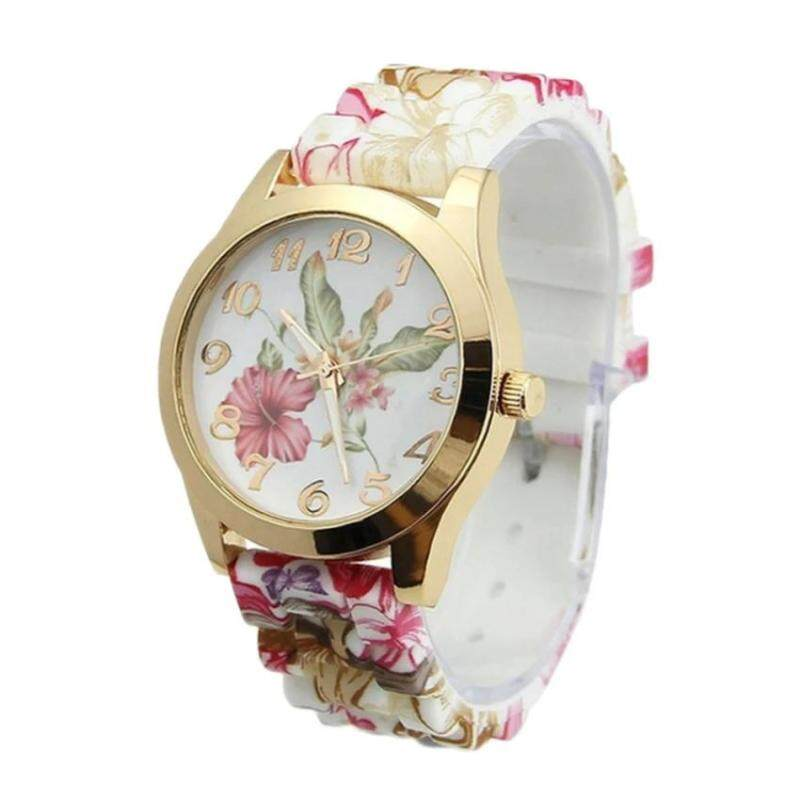 Homester Women Fashion Silica Gel Watch Porcelain Pattern Watch - JD361 Malaysia