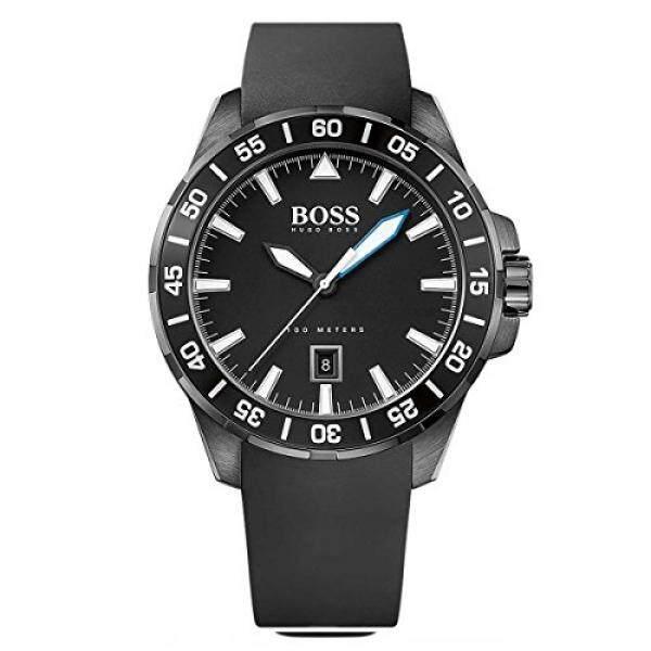 Hugo Boss Laut Dalam Hitam Silikon Kuarsa Analog Pria Jam Tangan 1513229-Internasional