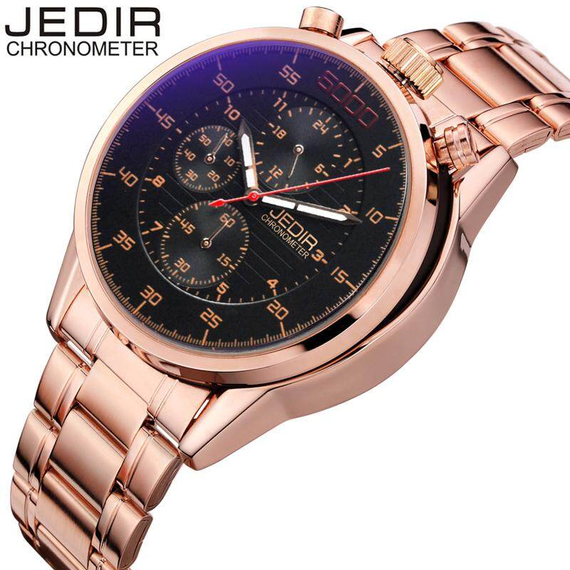 JEDIR Pilot Mens Chronograph Wrist Watch Waterproof Date Stainless Steel Diver Males Sports Quartz Clock relogio masculino N60