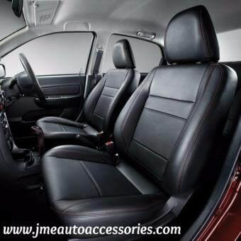 JME Cushion Perodua Axia Basic Leather Seat Covers Black