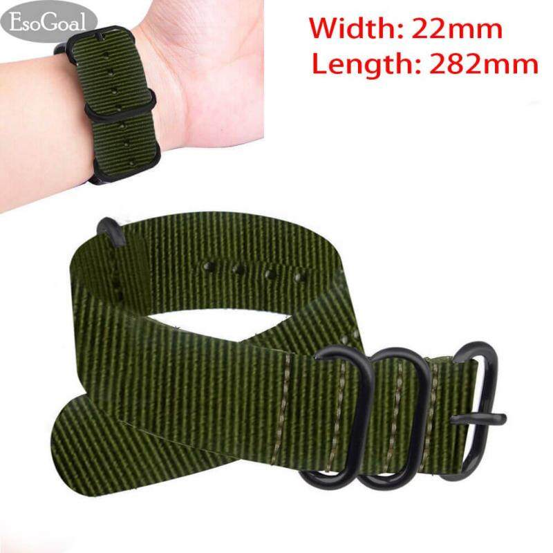 JvGood Premium Nylon Watch Bands Canvas Watchband Straps (Width 22mm Length 282mm) Malaysia