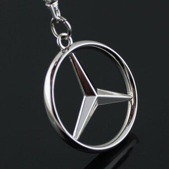 Keychain Metal Zinc Alloy Key Ring with Car Key Chain 3D Emblems ofBENZ Car Logo