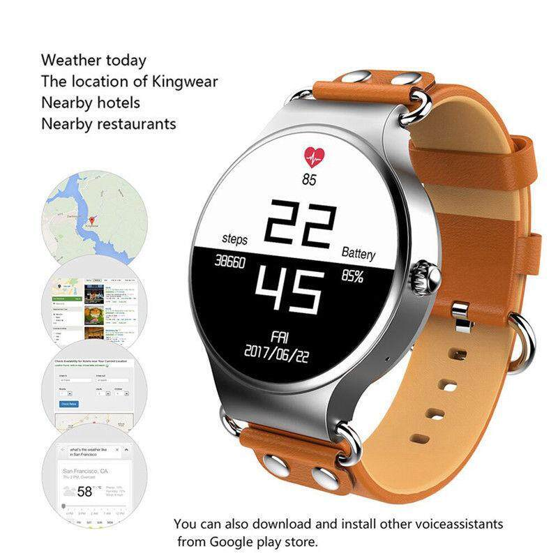 KINGWEAR KW98 Bluetooth 2MP Cam Smart Watch Quad Core Android IOS IPhone Samsung 401399116747-Intl