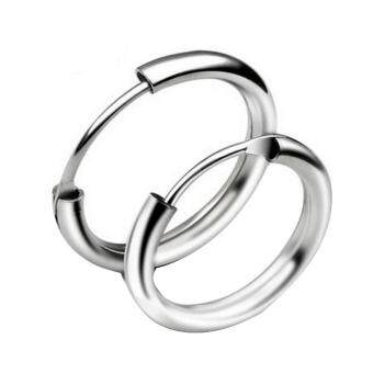 Kuhong Top Sale 925 Silver Plated Round Circle Silver Earrings(18mm)