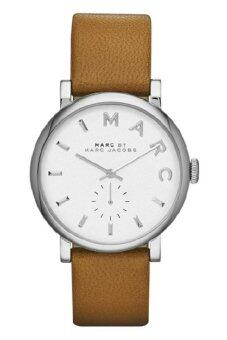 MARC BY MARC JACOBS MBM1265 Baker White Dial Brown Leather Strap Ladies Watch (Brown & White)