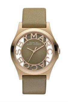 Marc by Marc Jacobs Women's Brown Rose Gold Leather Strap Watch MBM1245