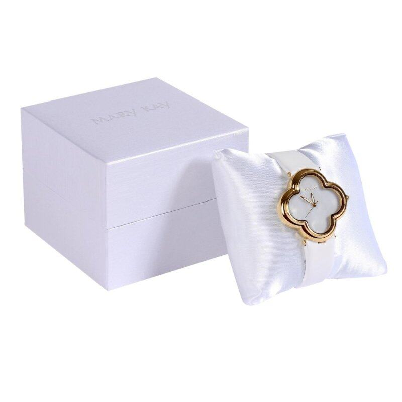 Mary Kay Authentic Shops Clover Mother Of Pearl Watch Fashion - White Malaysia