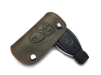Mercedes benz premium genuine leather key case holder for Mercedes benz key holder