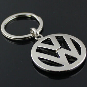 Metal Zinc Alloy Key Ring with Car Key Chain 3D Emblems of VW CarLogo Keychain