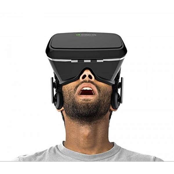 Morjava VR Shinecon 3D VR Kaca Kepala Dudukan Realitas Maya 3d Video Kacamata untuk 4 ~ 6 Ponsel Pintar 3D Film google Cardboard-Internasional