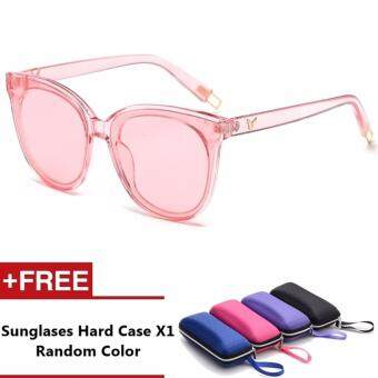 Motrin Brand Unisex Retro Aluminum Sunglasses Polarized Lens Vintage Eyewear Accessories Sun Glasses For Men/Women (Pink)