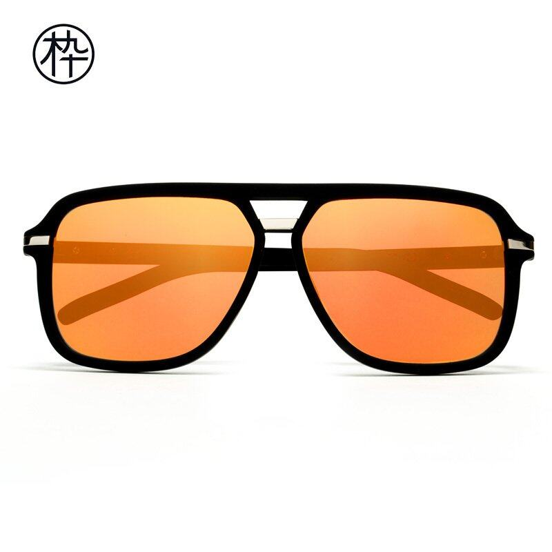 Orange Lense Sunglasses  mujosh black lightweight square sunglasses with orange flash