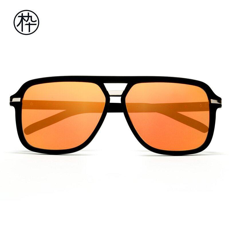 Orange Lense Sunglasses  mujosh black lightweight square sunglasses with orange flash