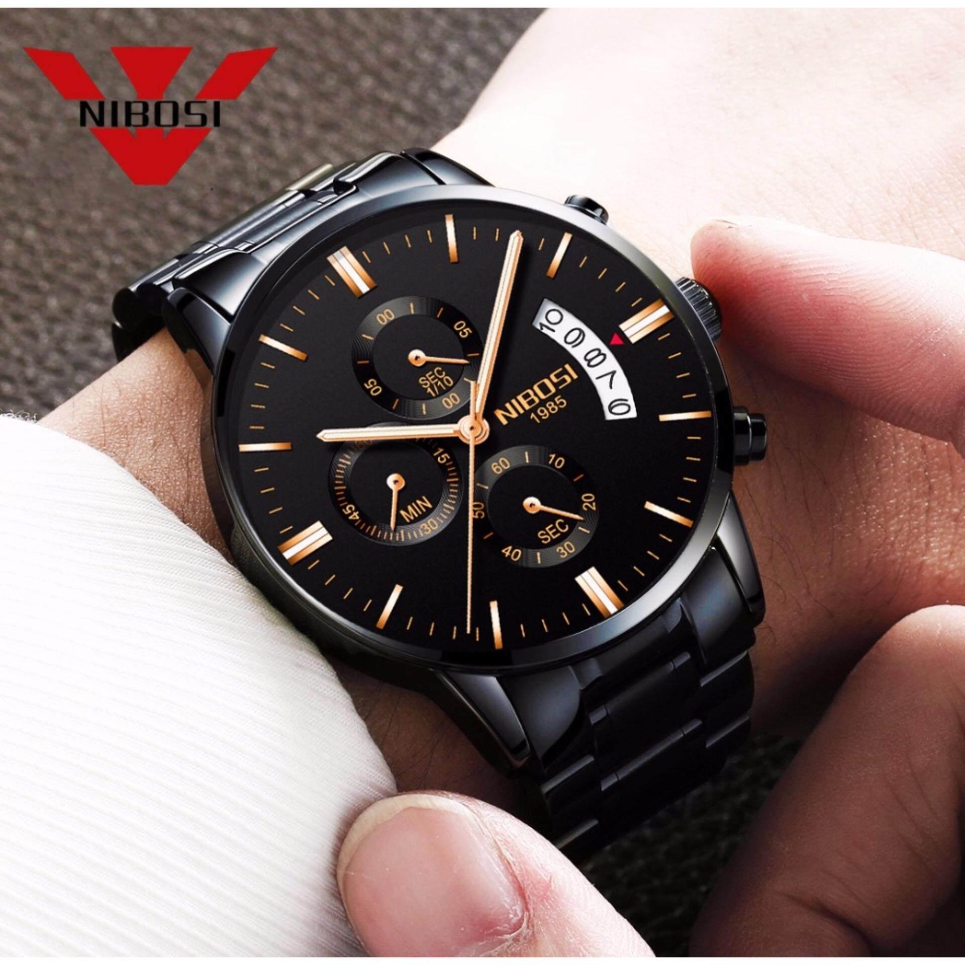 NIBOSI Relogio Masculino Men Watches Luxury Famous Top Brand Men's Fashion Casual Dress Watch Military Quartz Wristwatches Saat 2309 - intl
