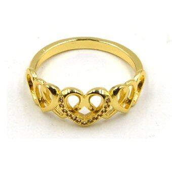 only 24k gold pattern of the ring one size fits all