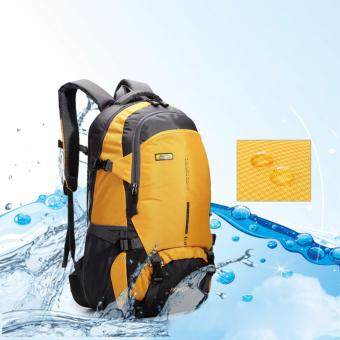 Outdoor Travel Hiking Camping Waterproof Backpack 45L (Yellow)