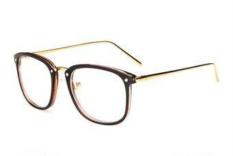 Outstanding Gold Metal Eyewear Glasses Frame E023-Brown ...