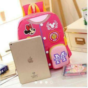 Pink Mickey Mouse Design Kids Preschool Bag