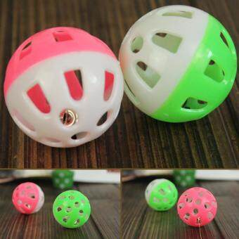 Plastic Tinkle Bell Ball Pet Toy Dog Cat Playing Ball