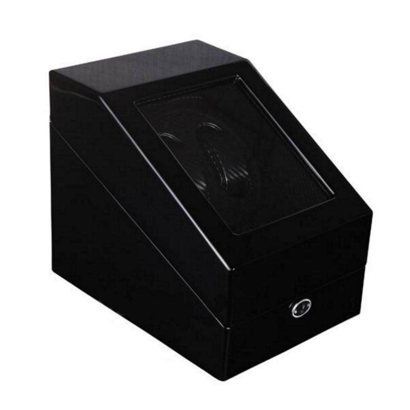 Premium Auto Watch Winder Automatic Rotate Watch Box 2+3 Black + Carbon Fibre PU Leather Malaysia