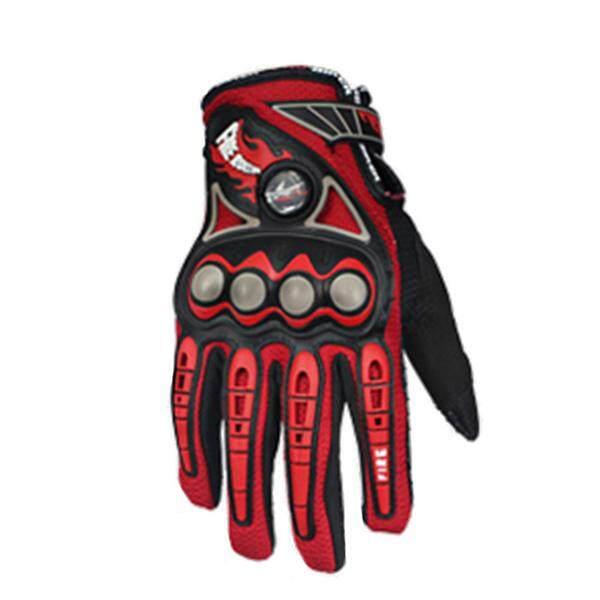 PRO-BIKER 1 pair Motorbike Gloves Breathable Full Finger Motorcycle Gloves, Red M - intl