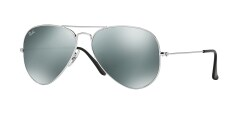 RAY-BAN AVIATOR LARGE METAL CRYSTAL GREY MIRROR Lenses RB3025 W3277 MAN SUNGLASS