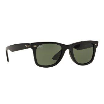 b5c8c0feab Ray Ban Rb2140 Wayfarer Sunglasses Black Frame Crystal Green Lense ...