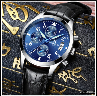 Rui of edge New style watch men's automatic mechanical watch quartzwatch stainless steel waterproof leather luminous watch