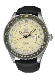 Seiko Automatic 100M SRP615K1 Leather Strap Gents Watch (Black& Mlik)
