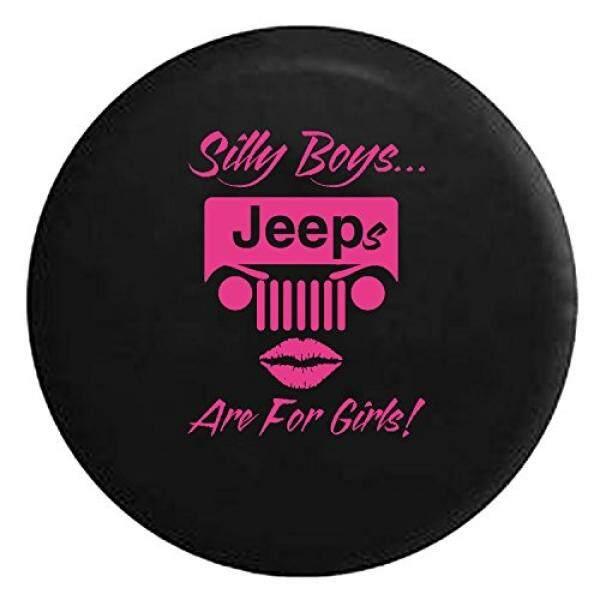 Silly Anak Laki-laki Jeeps Adalah untuk Perempuan Lipstik Spare Jip Wrangler Camper SUV Tire Sarung Merah Muda Tinta 30 Dalam-Internasional