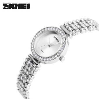 Skmei high-grade diamond Ladies watch Fashion watch waterproof steel bracelet watch simple elegant women watch 1224